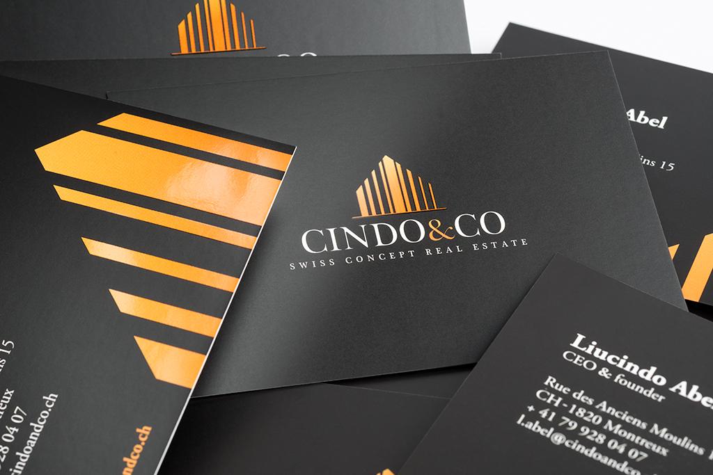 Cration Et Ralisation De Cartes Visites Pour Lagence Immobilire CindoCo Montreux