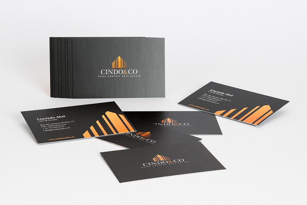 Cartes De Visites CindoCoCration Et Ralisation Pour Lagence Immobilire CindoCo